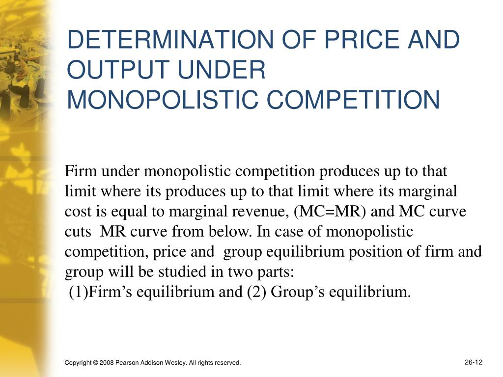 DETERMINATION OF PRICE AND