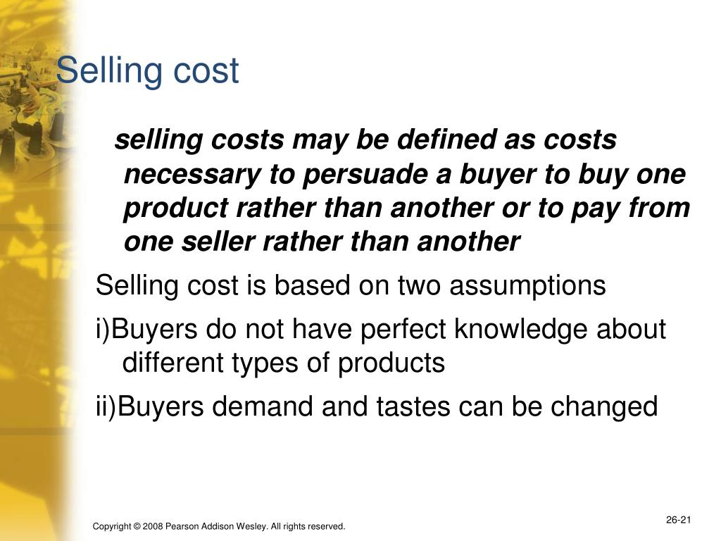 Selling cost
