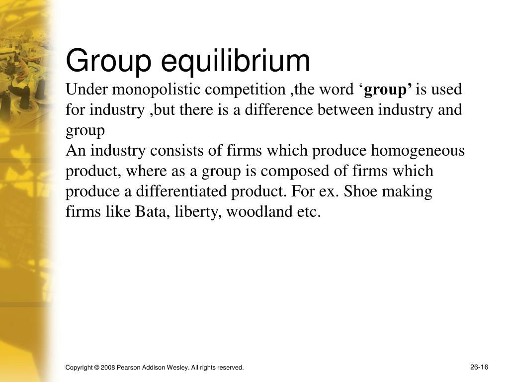 Group equilibrium