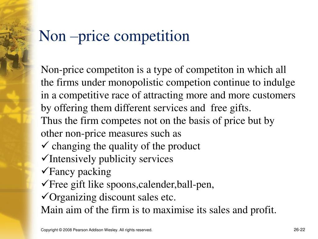 Non –price competition