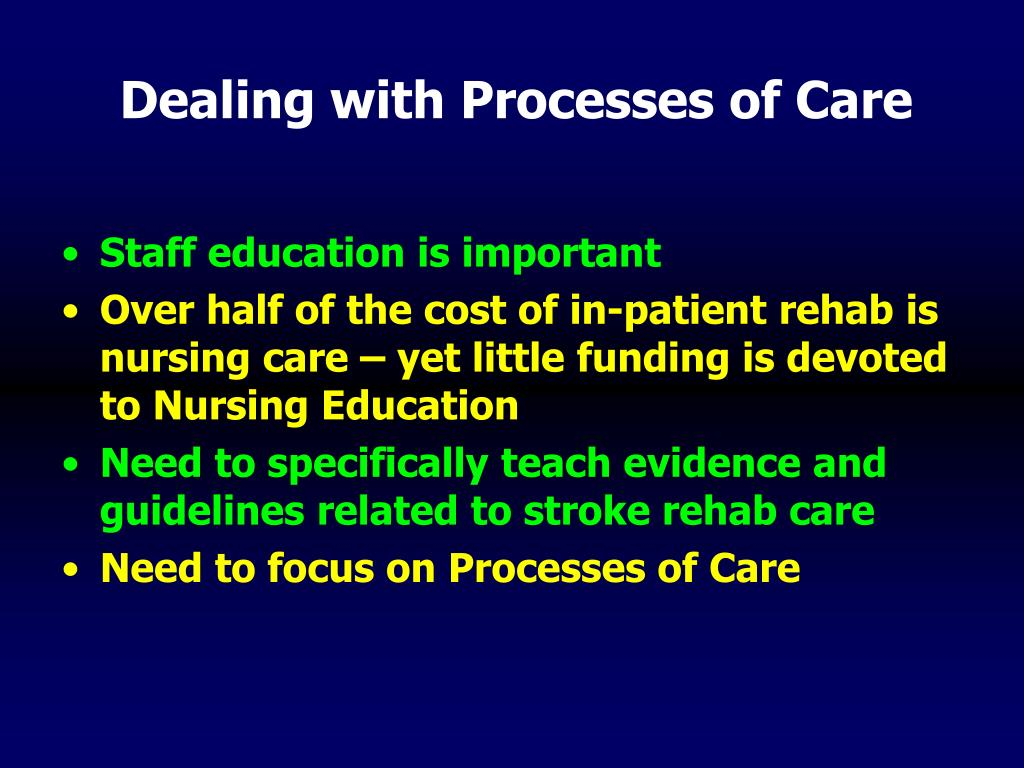 Dealing with Processes of Care