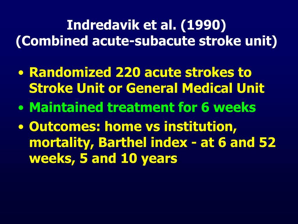 Indredavik et al. (1990)