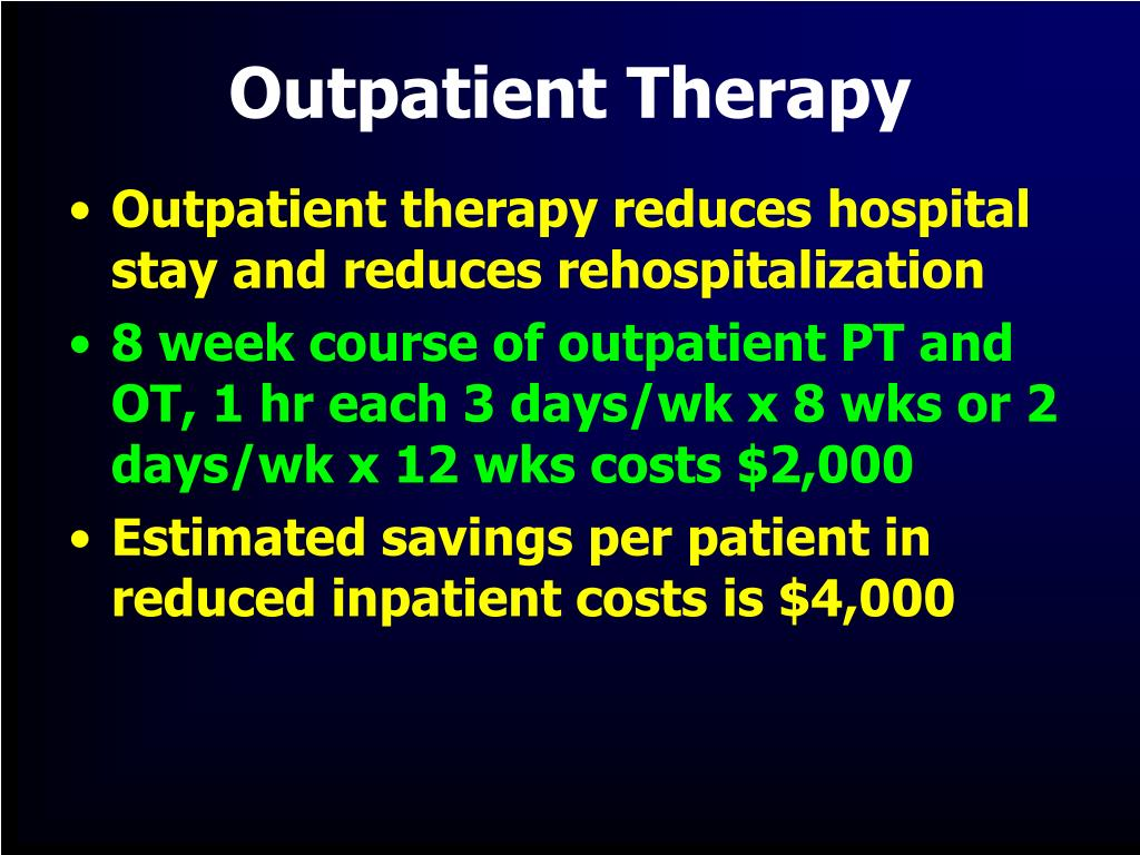 Outpatient Therapy