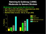 r nning guldvog 1998 moderate to severe strokes