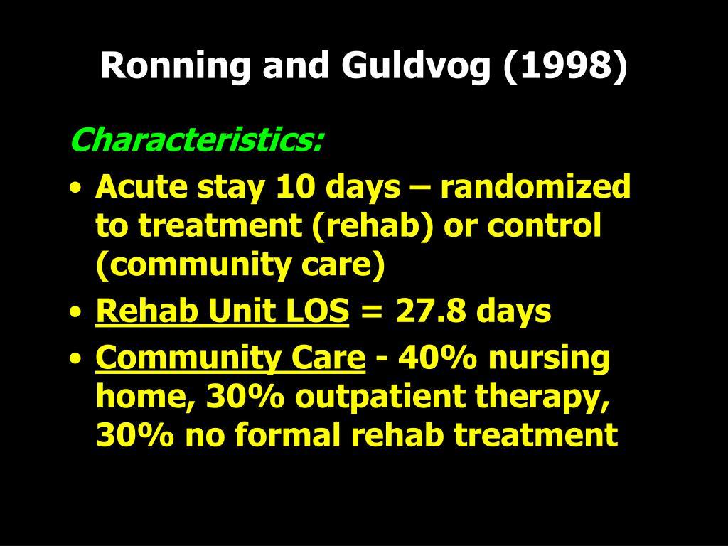 Ronning and Guldvog (1998)