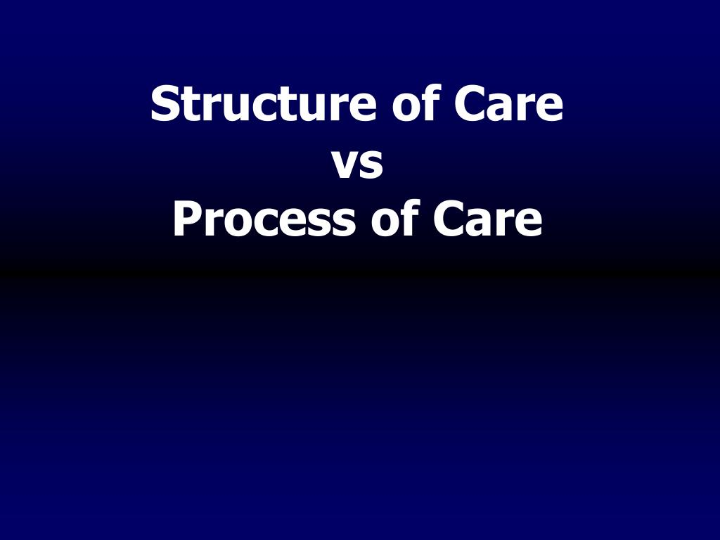 Structure of Care