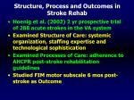 structure process and outcomes in stroke rehab