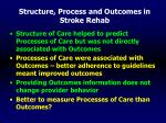 structure process and outcomes in stroke rehab55