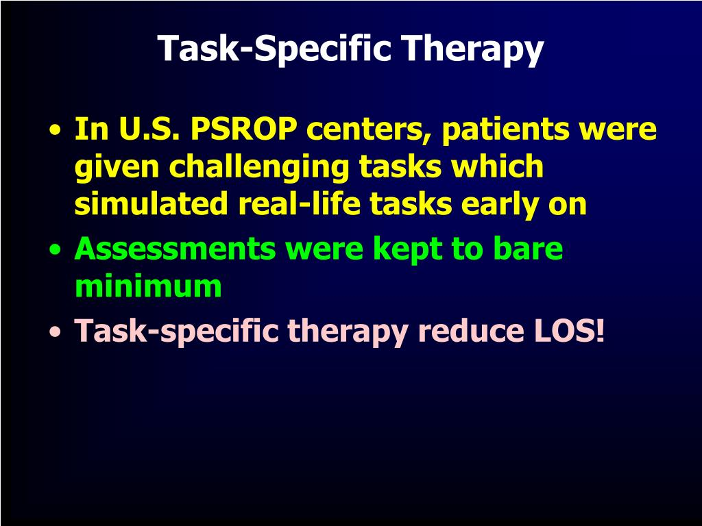 Task-Specific Therapy