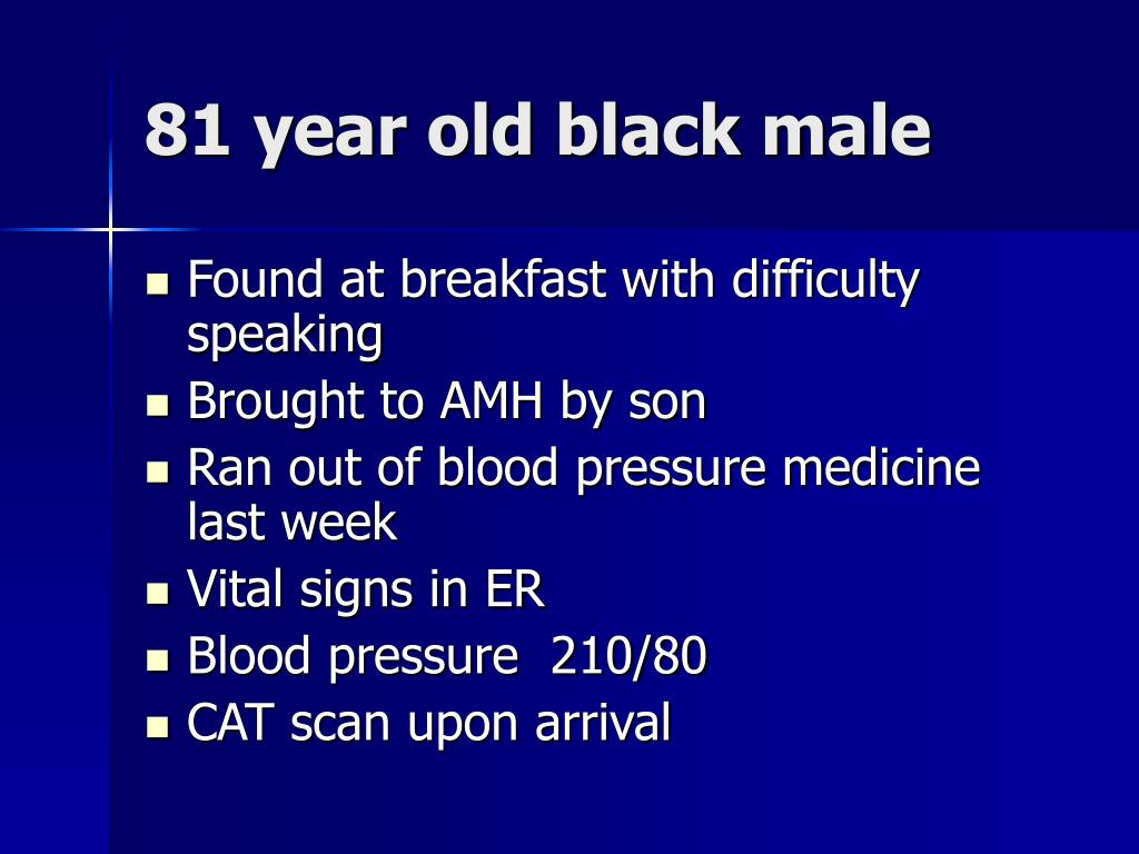 81 year old black male