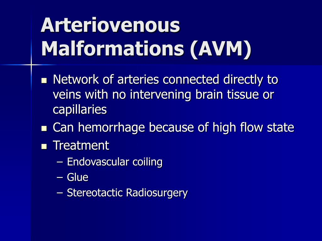 Arteriovenous Malformations (AVM)
