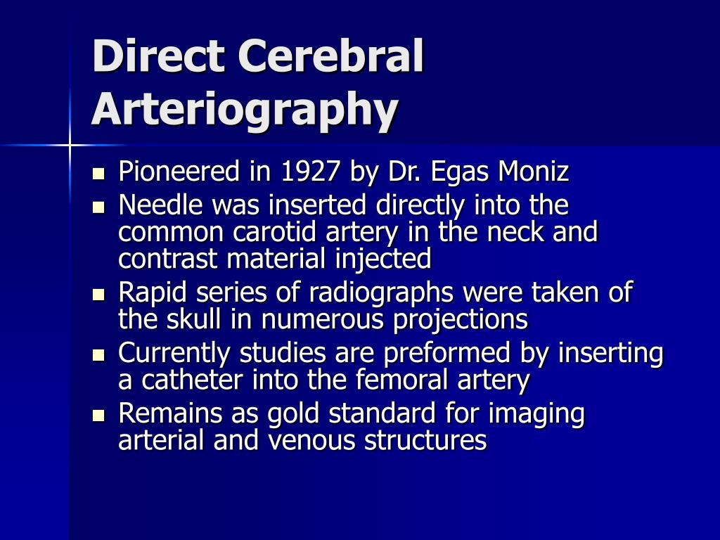Direct Cerebral Arteriography