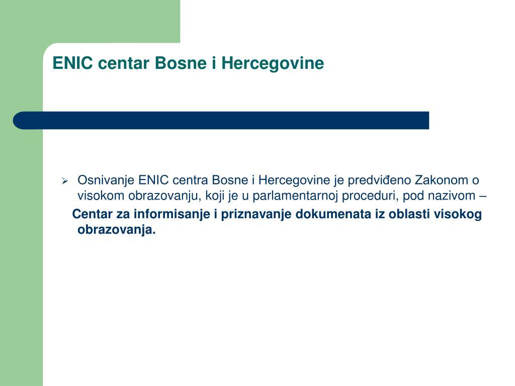 ENIC centar Bosne i Hercegovine