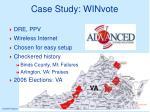 case study winvote