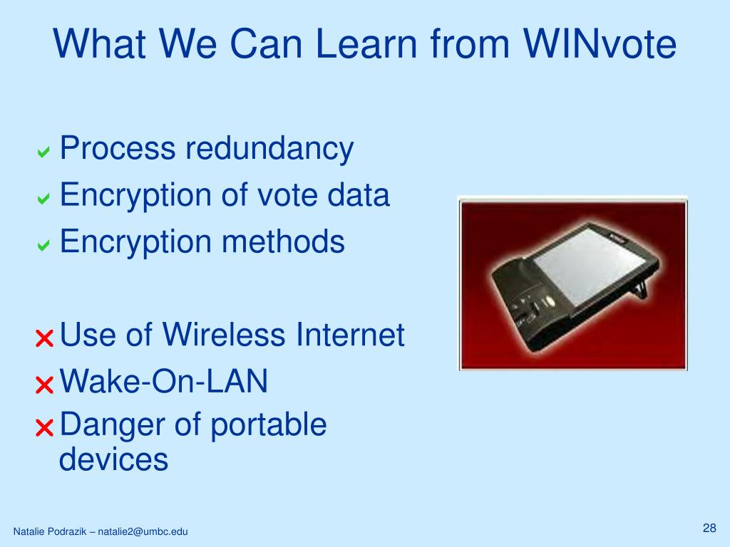 What We Can Learn from WINvote