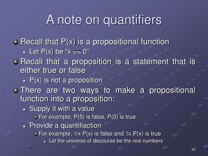 A note on quantifiers
