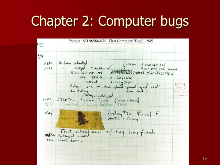 Chapter 2: Computer bugs