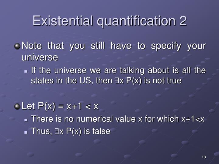 Existential quantification 2