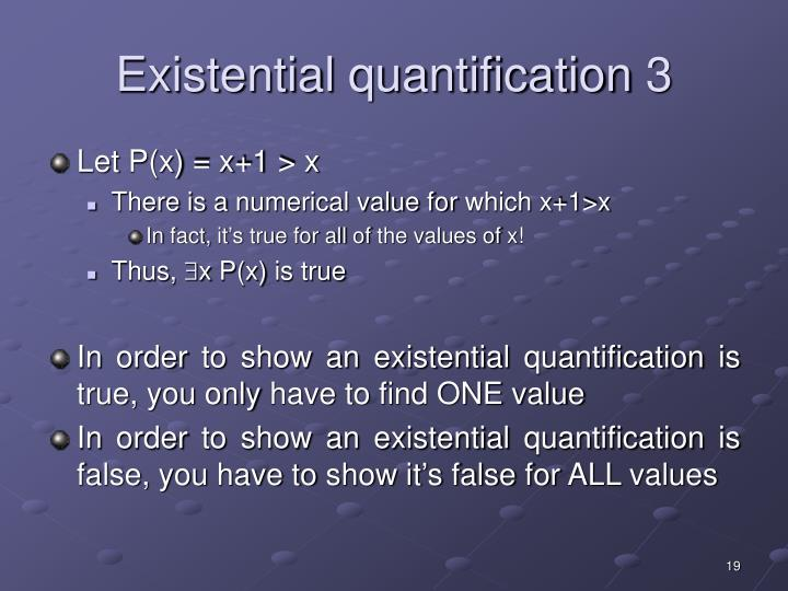 Existential quantification 3