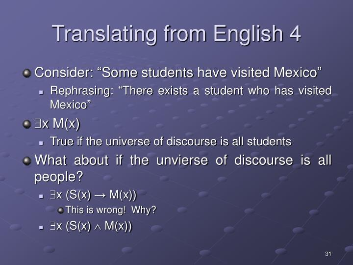 Translating from English 4
