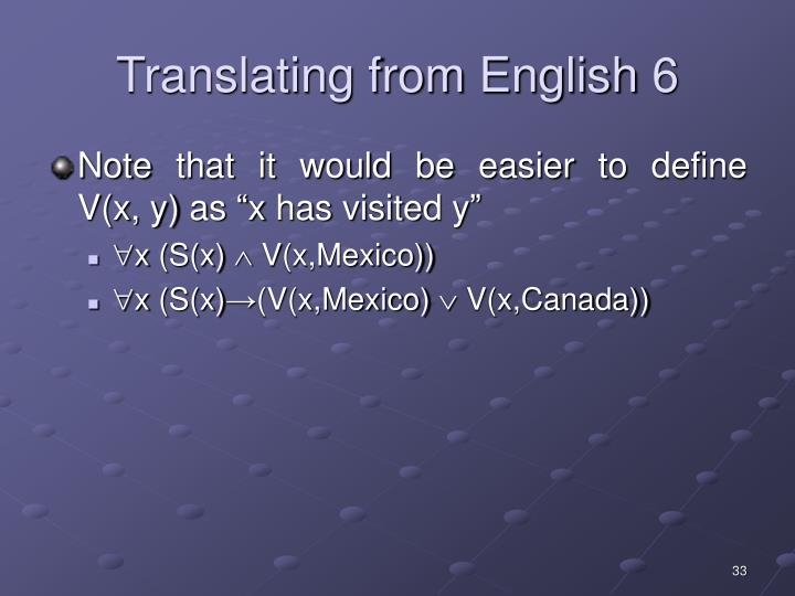 Translating from English 6
