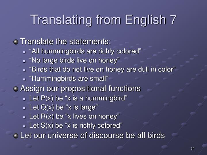 Translating from English 7