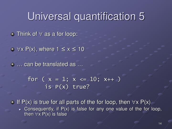Universal quantification 5