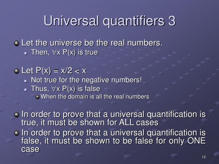 Universal quantifiers 3