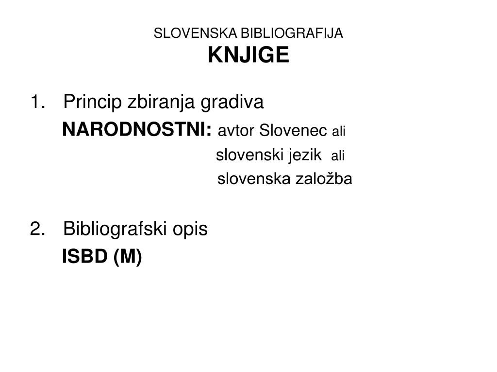 SLOVENSKA BIBLIOGRAFIJA