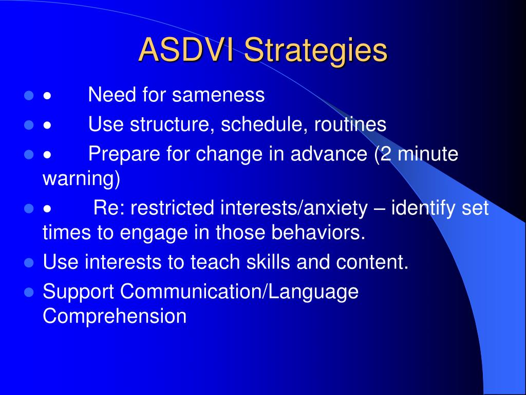 ASDVI Strategies