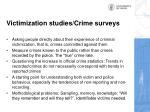victimization studies crime surveys