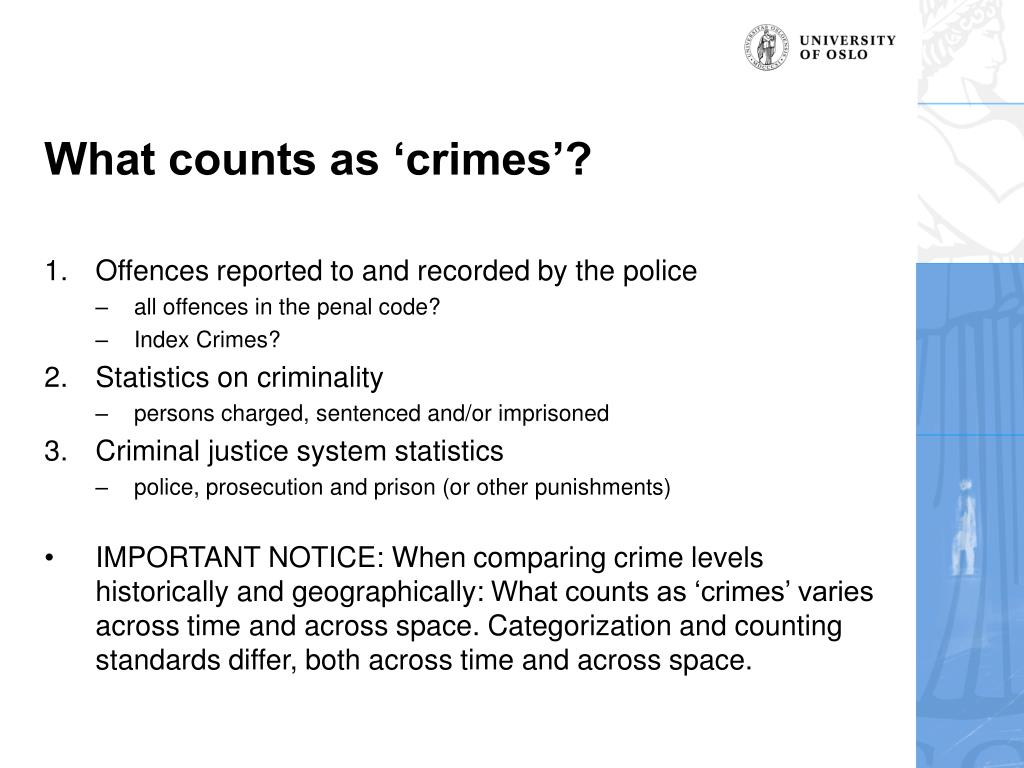 What counts as 'crimes'?
