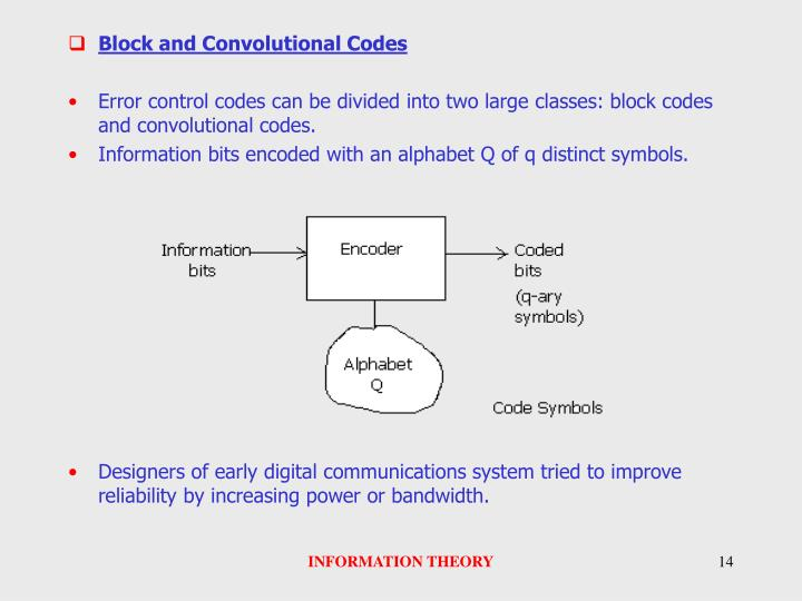 Block and Convolutional Codes