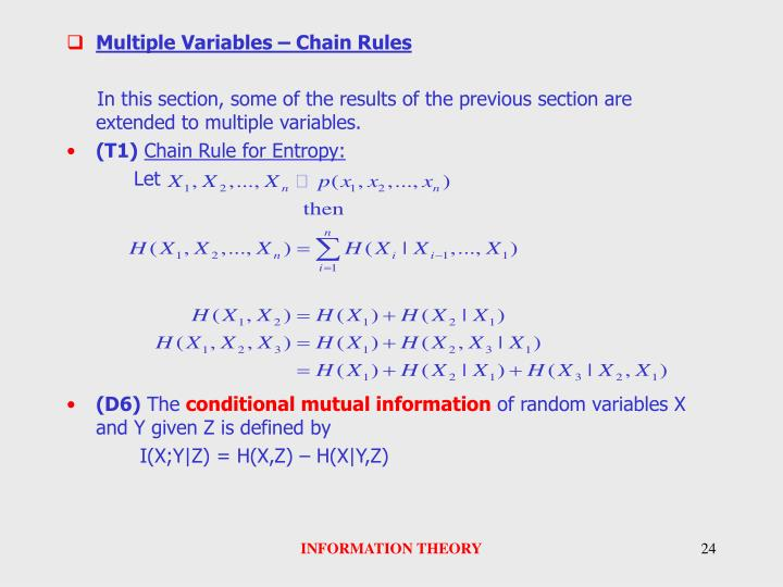 Multiple Variables – Chain Rules
