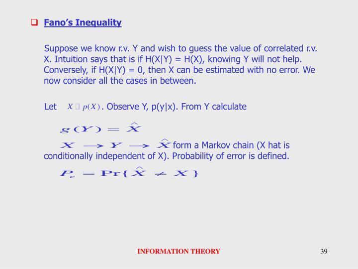 Fano's Inequality