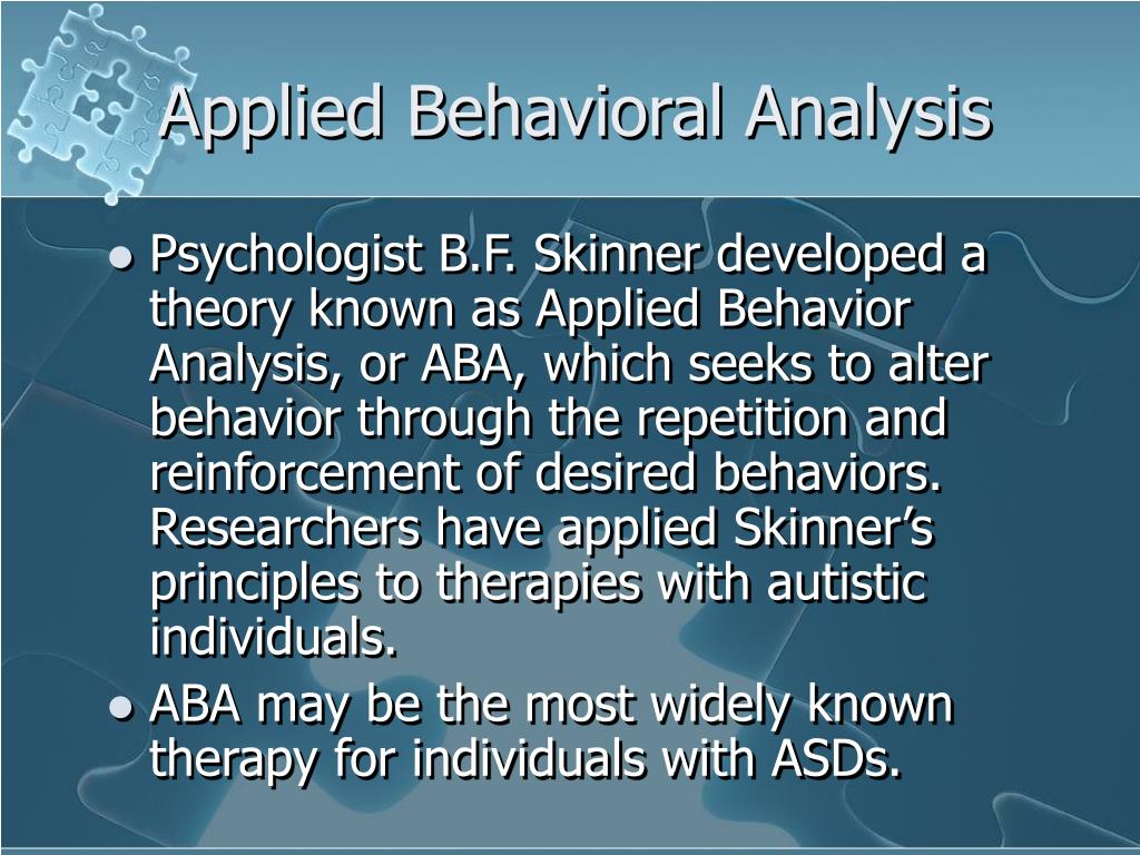 Applied Behavioral Analysis