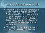 applied behavioral analysis