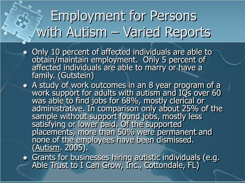 Employment for Persons
