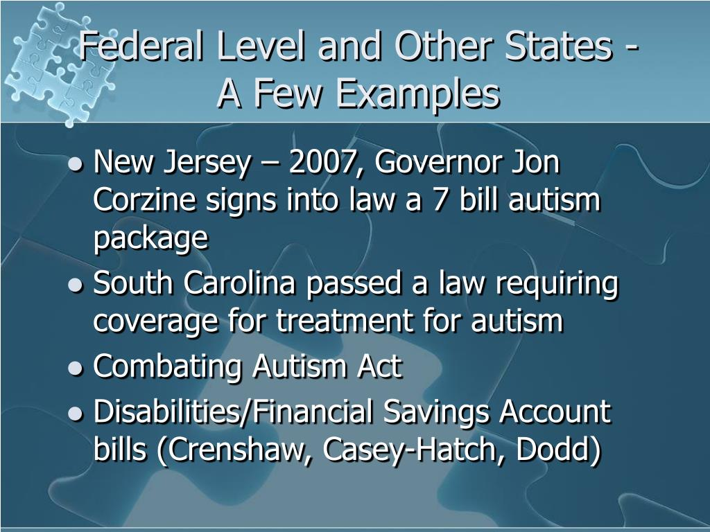 Federal Level and Other States -