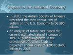 impact to the national economy
