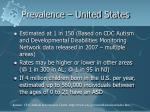 prevalence united states