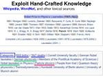 exploit hand crafted knowledge