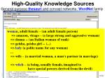 high quality knowledge sources11