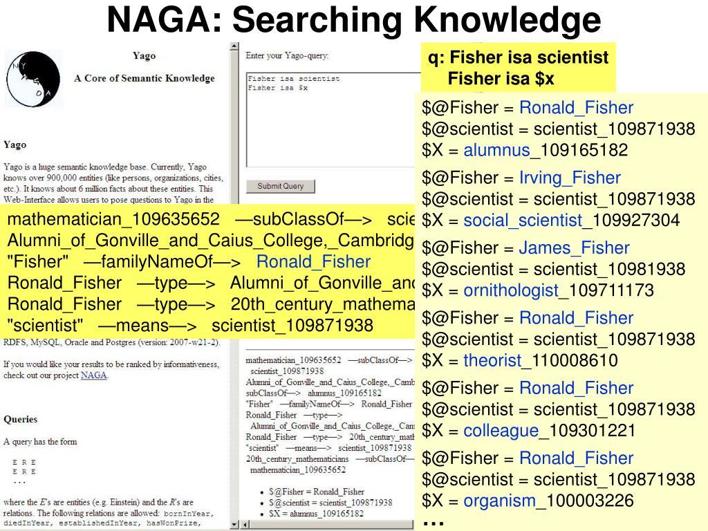 NAGA: Searching Knowledge