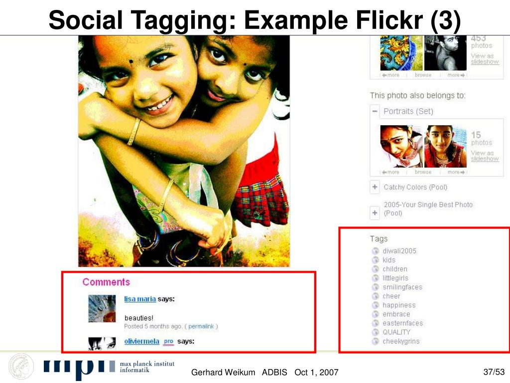 Social Tagging: Example Flickr (3)