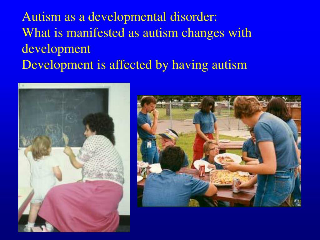 Autism as a developmental disorder: