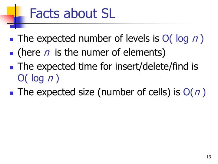 Facts about SL