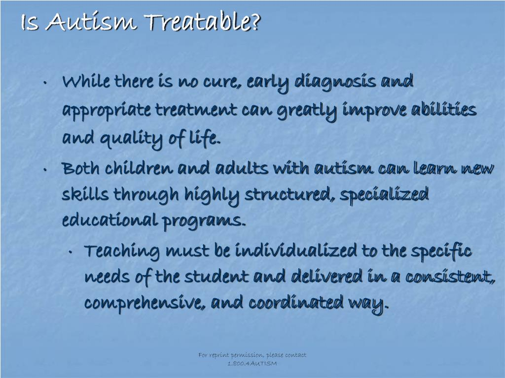Is Autism Treatable?