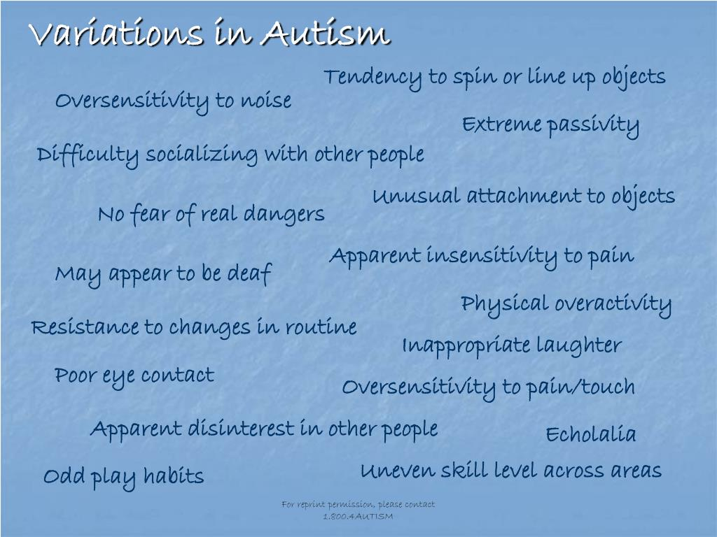 Variations in Autism