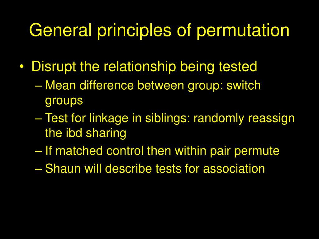 General principles of permutation
